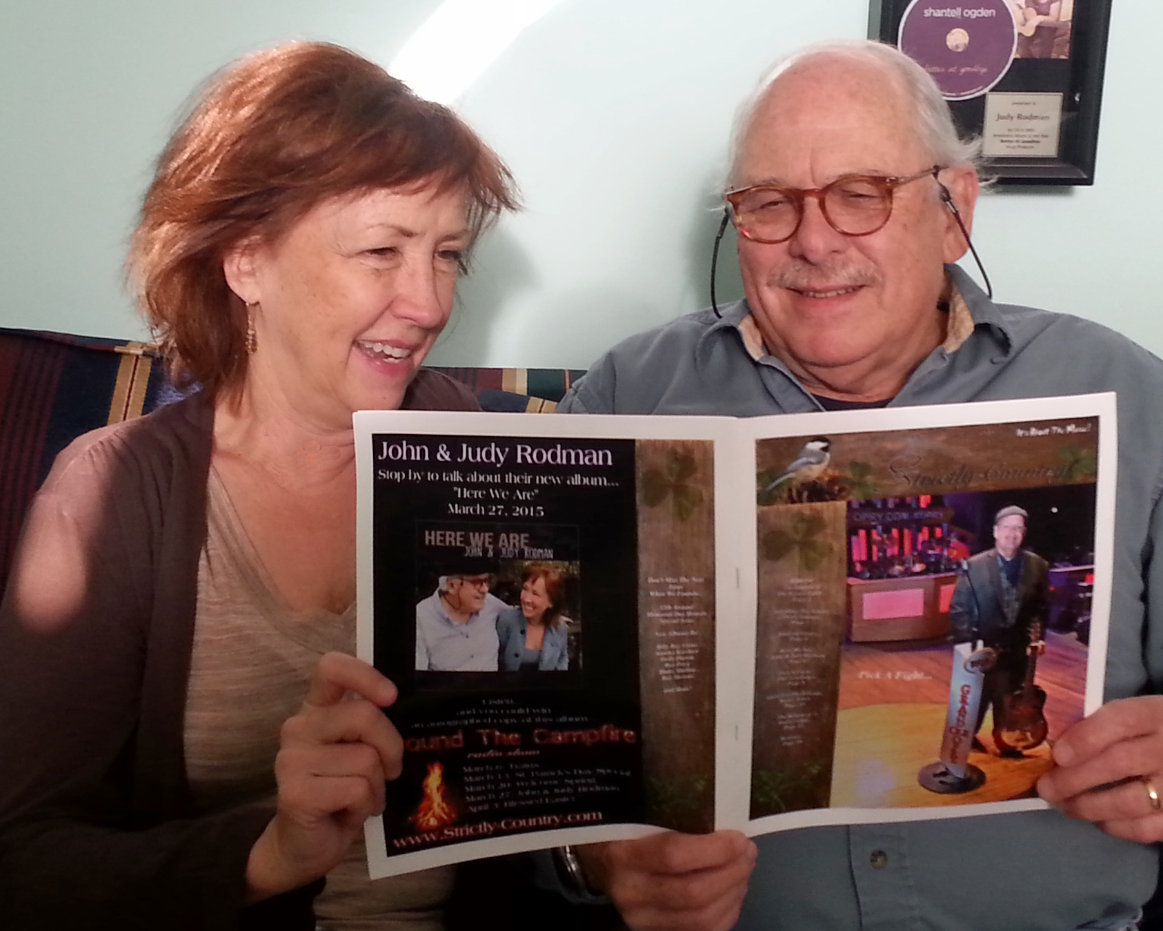 John and Judy Rodman read Strictly Country Magazine