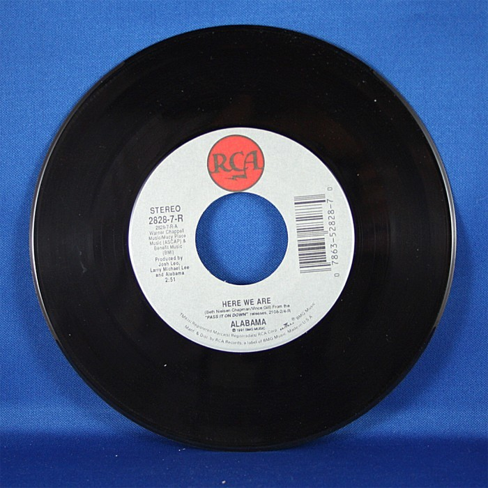 """Alabama - 45 LP """"Here We Are"""" & """"Gulf Of Mexico"""""""