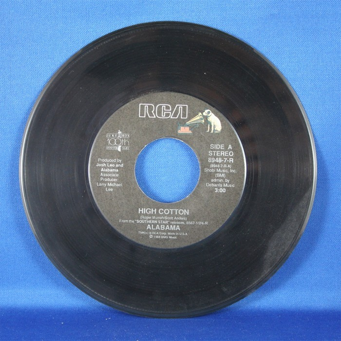"Alabama - 45 LP ""High Cotton"" & ""Ole' Baugh Road"""