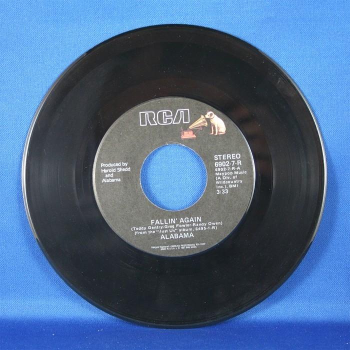 """Alabama - 45 LP """"I Saw The Time"""" & """"Fallin' Again"""""""
