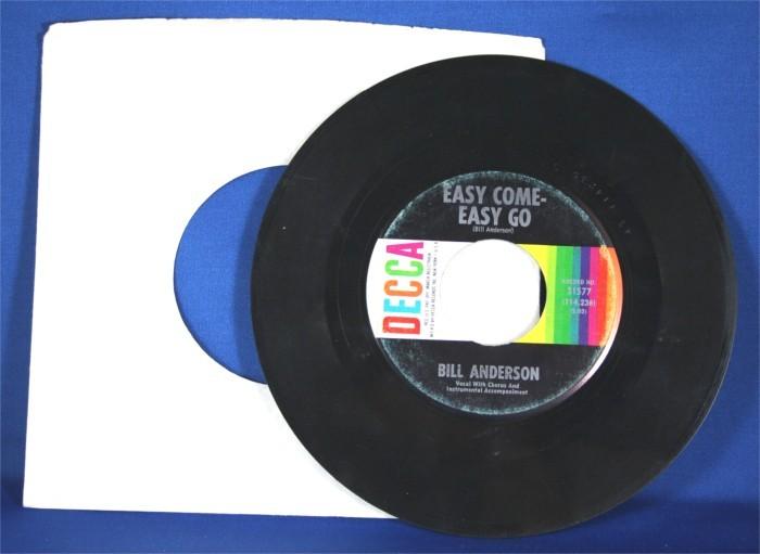 "Bill Anderson - 45 LP ""Easy Come- Easy Go"" / ""Five Little Fingers"""