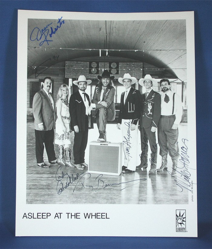 Asleep At The Wheel - autographed 8x10 black & white photograph