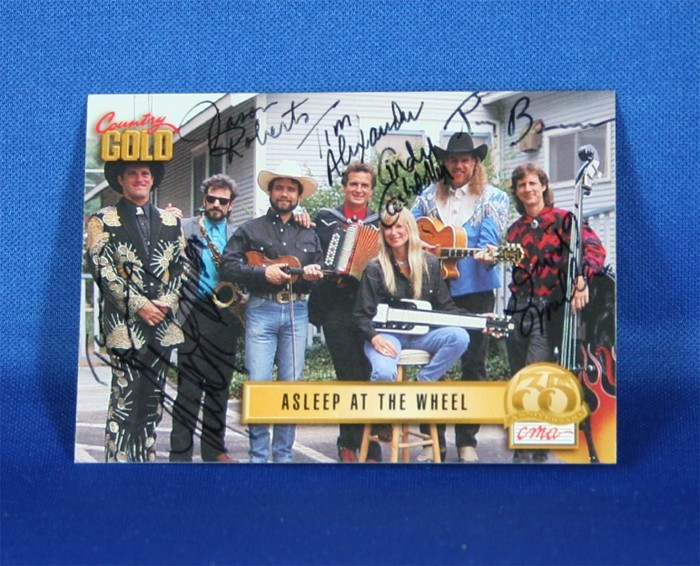 Asleep At The Wheel - autographed 1993 Country Gold trading card #3