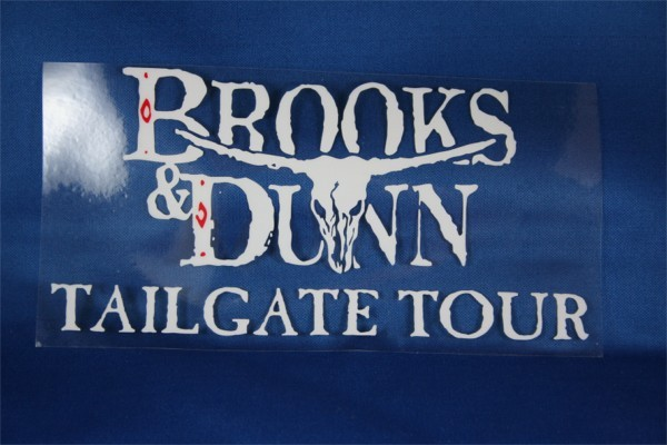 Brooks & Dunn - window cling