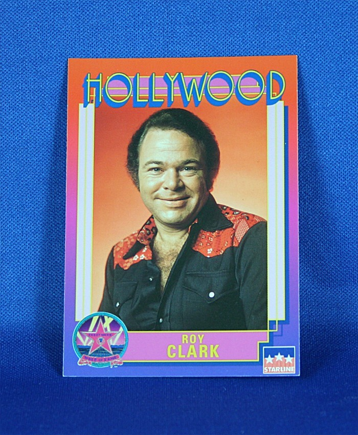 Roy Clark - Hollywood Walk of Fame trading card #36