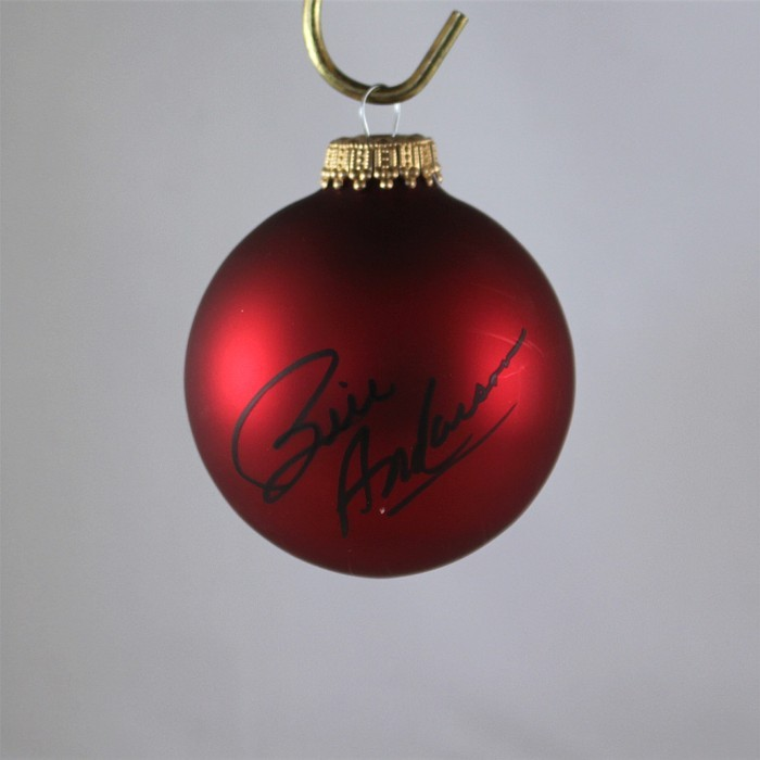 FFF Charities - Bill Anderson - autographed red Christmas ornament #11