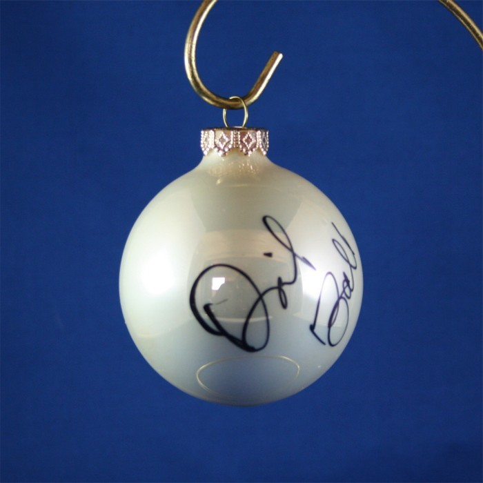FFF Charities - David Ball - white Christmas ornament #1