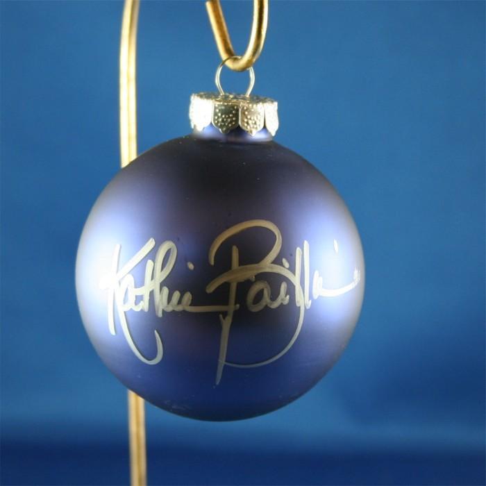 FFF Charities - Kathie Baillie - blue Christmas ornament #3