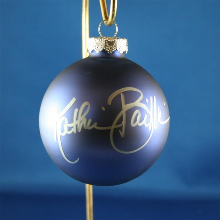 FFF Charities - Kathie Baillie - blue Christmas ornament #5