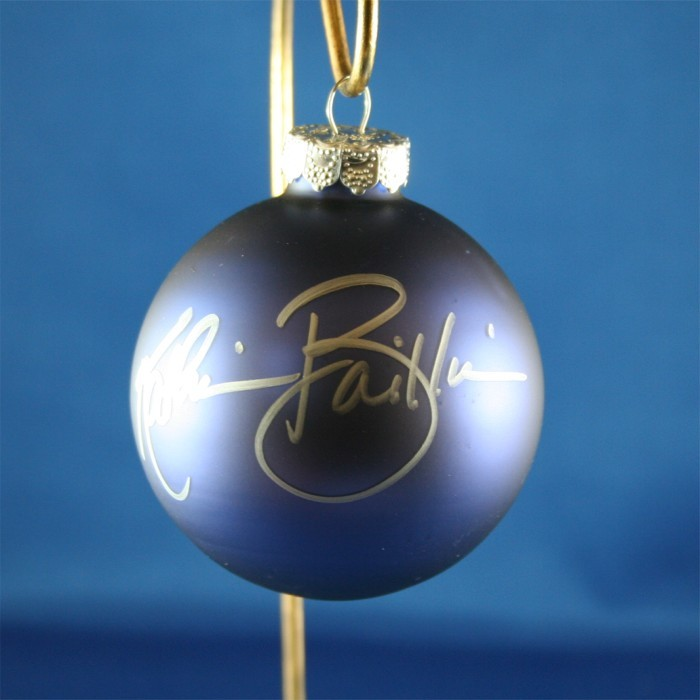FFF Charities - Kathie Baillie - blue Christmas ornament #7