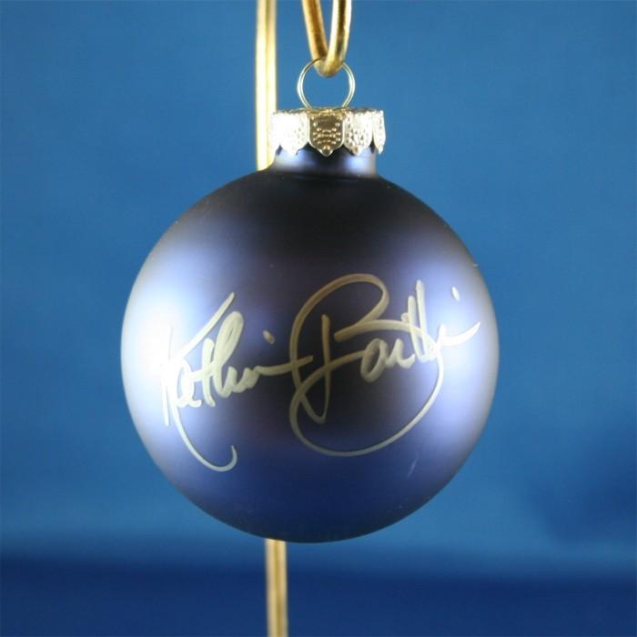 FFF Charities - Kathie Baillie - blue Christmas ornament #9