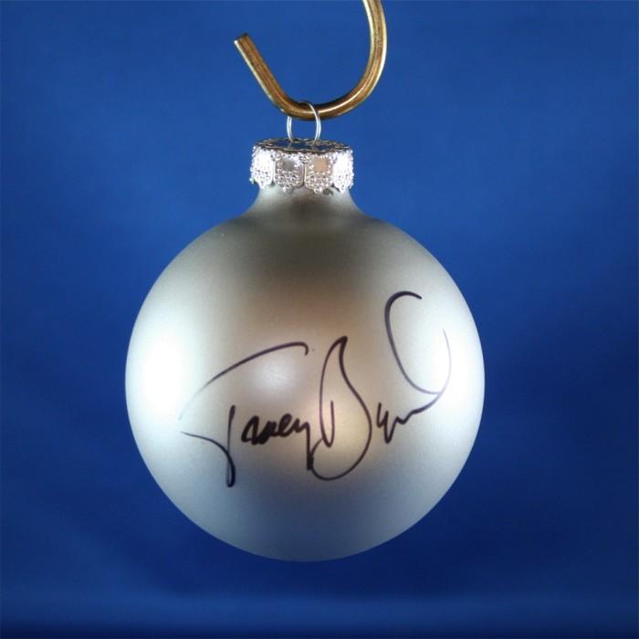 FFF Charities - Tracy Byrd - silver Christmas ornament #1