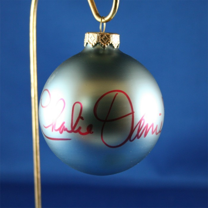 FFF Charities - Charlie Daniels - blue Christmas ornament #1