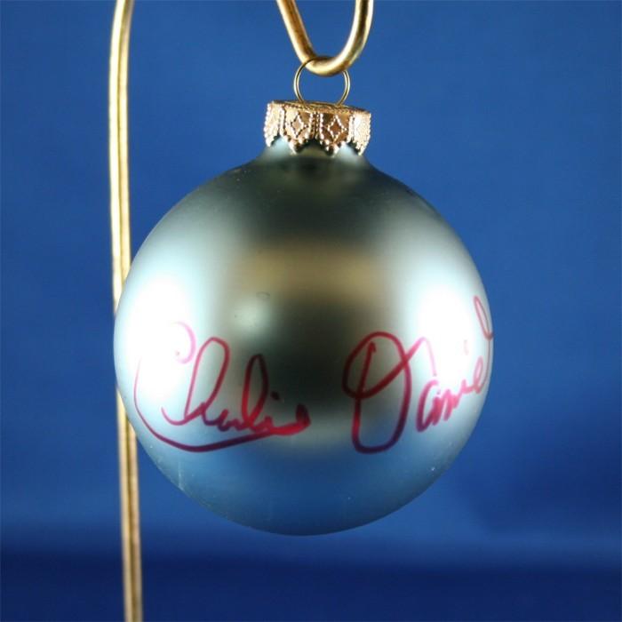 FFF Charities - Charlie Daniels - blue Christmas ornament #2