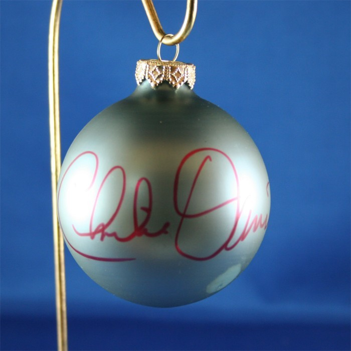 FFF Charities - Charlie Daniels - blue Christmas ornament #3