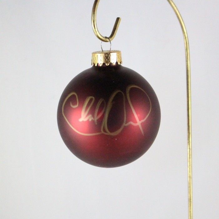 FFF Charities - Charlie Daniels - dark red Christmas ornament #4