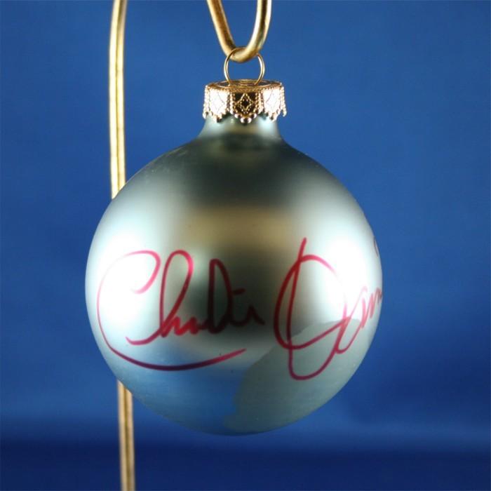 FFF Charities - Charlie Daniels - blue Christmas ornament #5