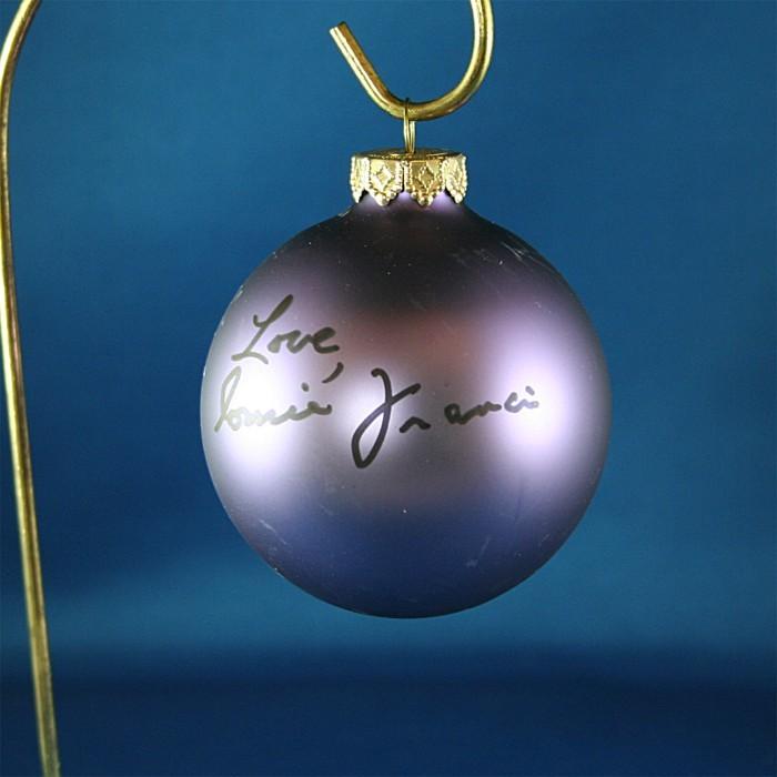 FFF Charities - Connie Francis - purple Christmas ornament #1