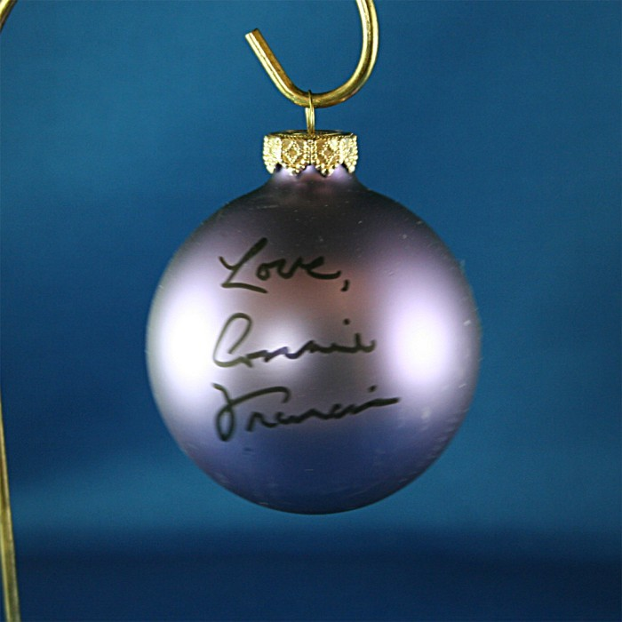 FFF Charities - Connie Francis - purple Christmas ornament #2