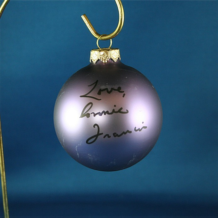 FFF Charities - Connie Francis - purple Christmas ornament #8