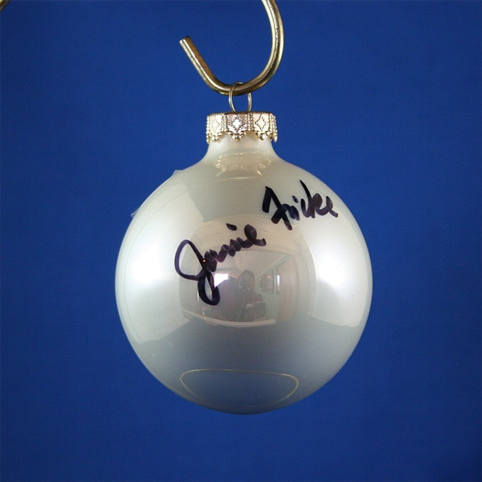 FFF Charities - Janie Frickie - white Christmas ornament #3