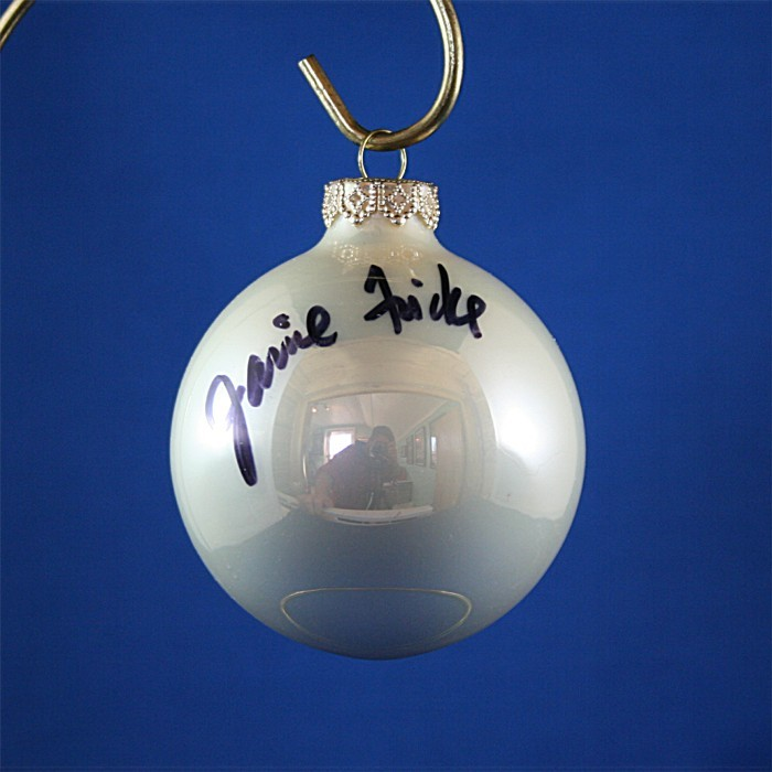 FFF Charities - Janie Frickie - white Christmas ornament #6