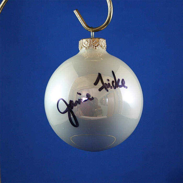 FFF Charities - Janie Frickie - white Christmas ornament #8