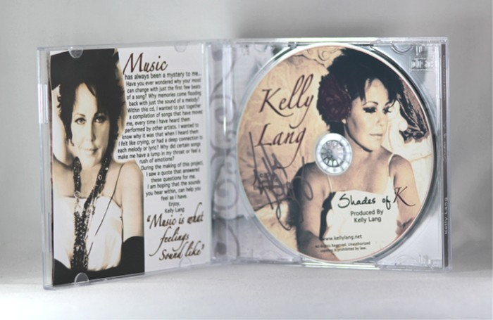 """FFF Charities - Kelly Lang - autographed CD """"Shades of K"""""""