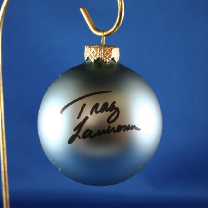 FFF Charities - Tracy Lawrence - blue Christmas ornament #14
