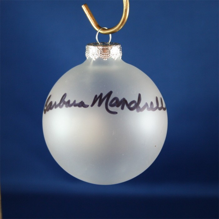 FFF Charities - Barbara Mandrell - Clear Christmas Ornament #4