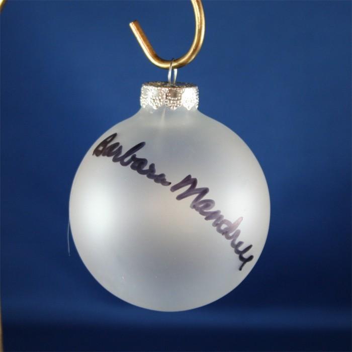 FFF Charities - Barbara Mandrell - Clear Christmas Ornament #6