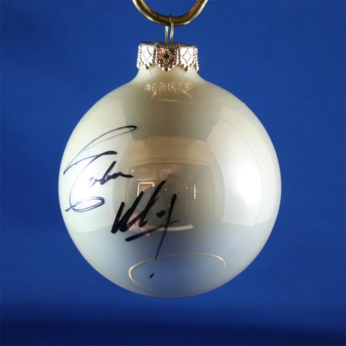 FFF Charities - Eddie Money - white Christmas ornament #3