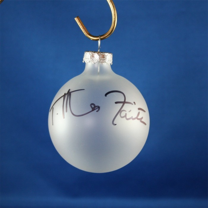 FFF Charities - Tim McGraw & Faith Hill - Clear Christmas ornament #1