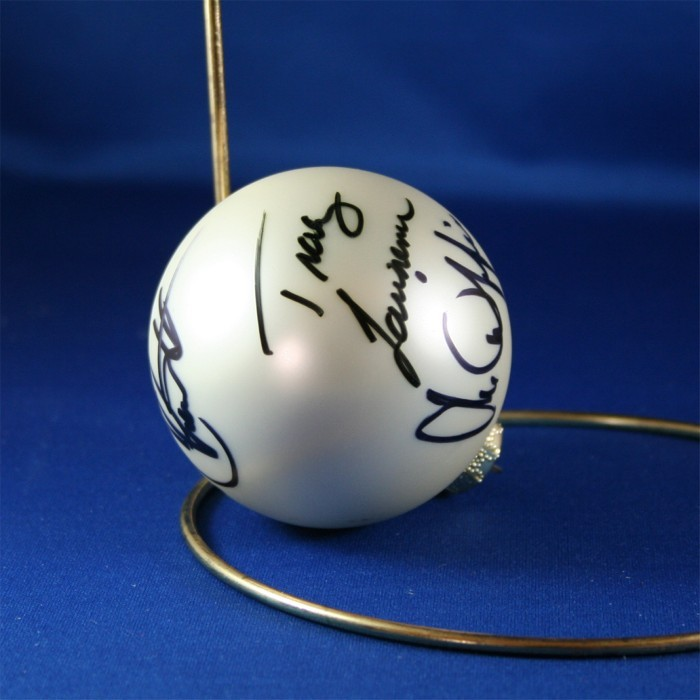FFF Charities - Rockin' Roadhouse Tour - Mark Chesnutt, Tracy Lawrence, Joe Diffie - White Christmas Ornament #8