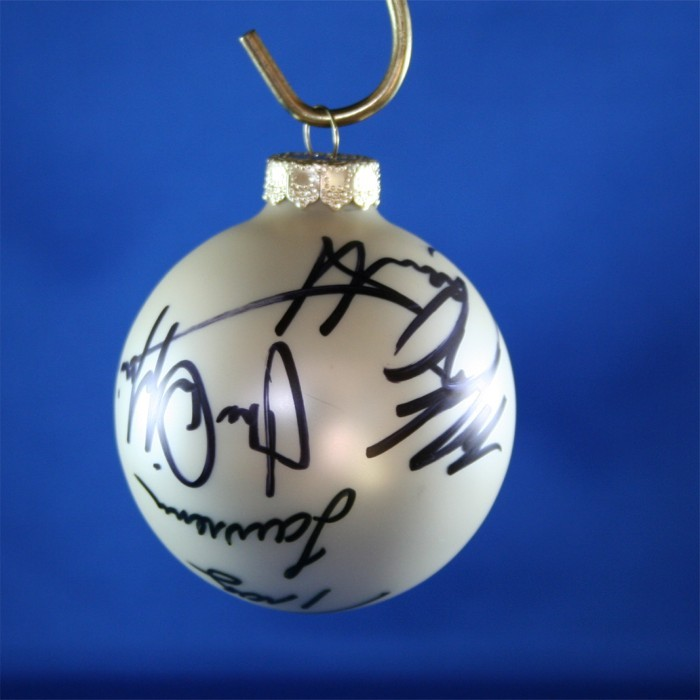 FFF Charities - Rockin' Roadhouse Tour - Mark Chesnutt, Tracy Lawrence, Joe Diffie - White Christmas Ornament #9