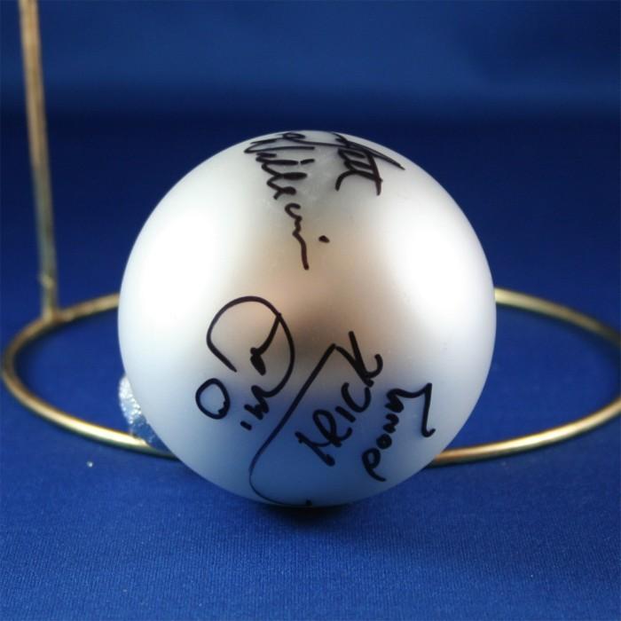 FFF Charities - Trick Pony - Ira Dean & Jett Williams - silver Christmas ornament #1