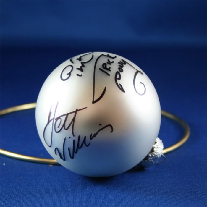 FFF Charities - Trick Pony - Ira Dean & Jett Williams - silver Christmas ornament #2