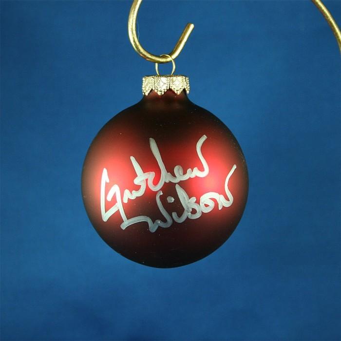 FFF Charities - Gretchen Wilson - red Christmas ornament #3
