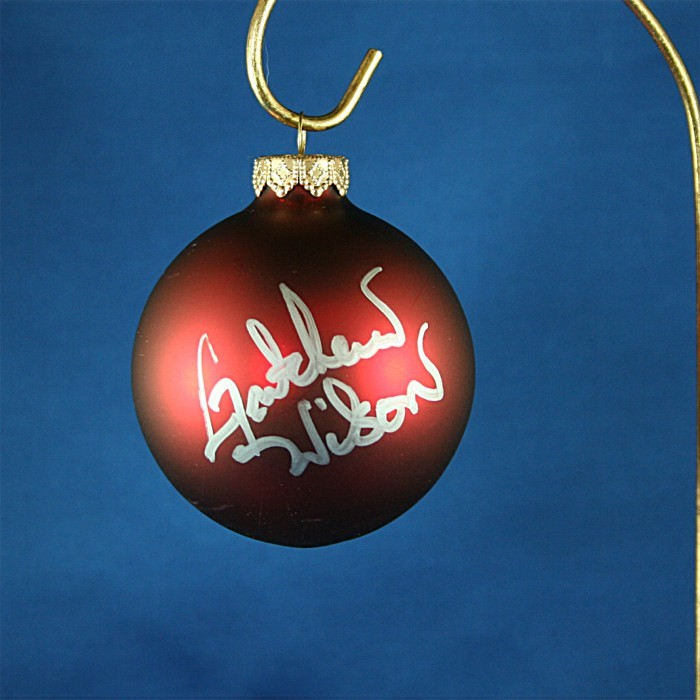 FFF Charities - Gretchen Wilson - red Christmas ornament #7