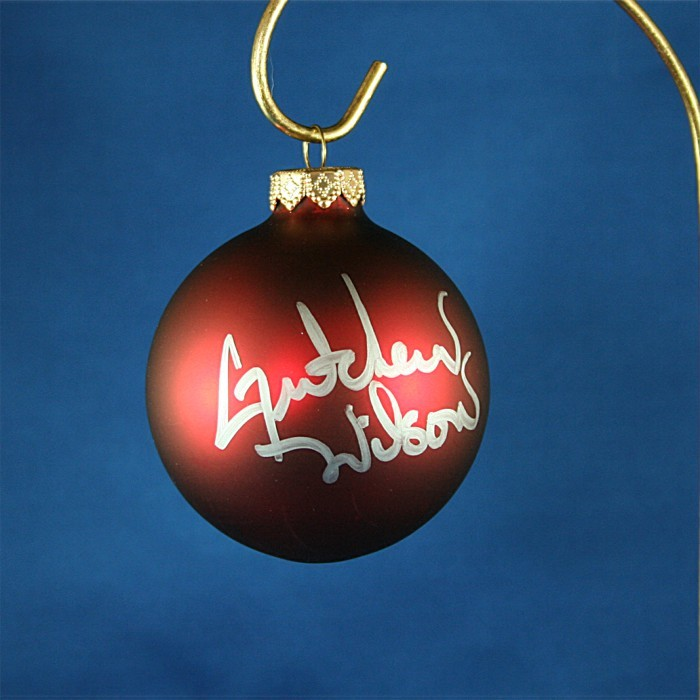 FFF Charities - Gretchen Wilson - red Christmas ornament #12