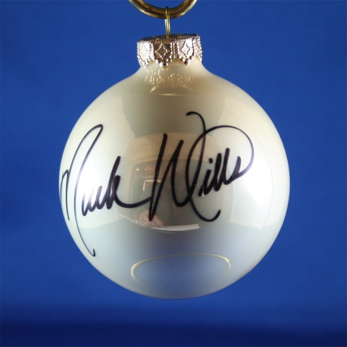 FFF Charities - Mark Wills - white Christmas ornament #4