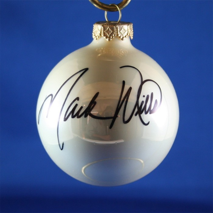 FFF Charities - Mark Wills - white Christmas ornament #5