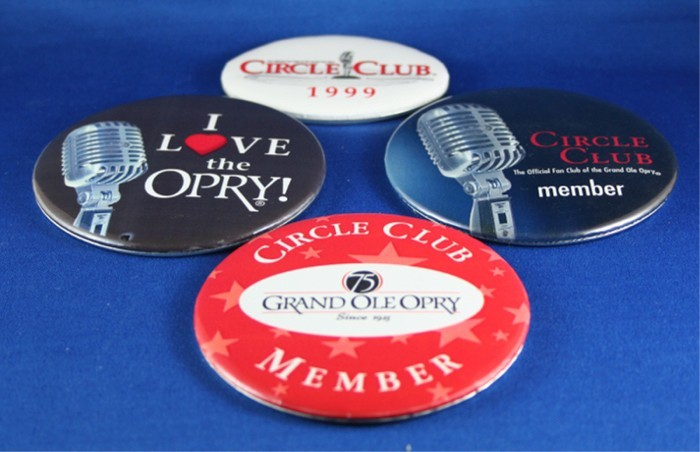 Grand Ole Opry - lot of Circle Club pin buttons