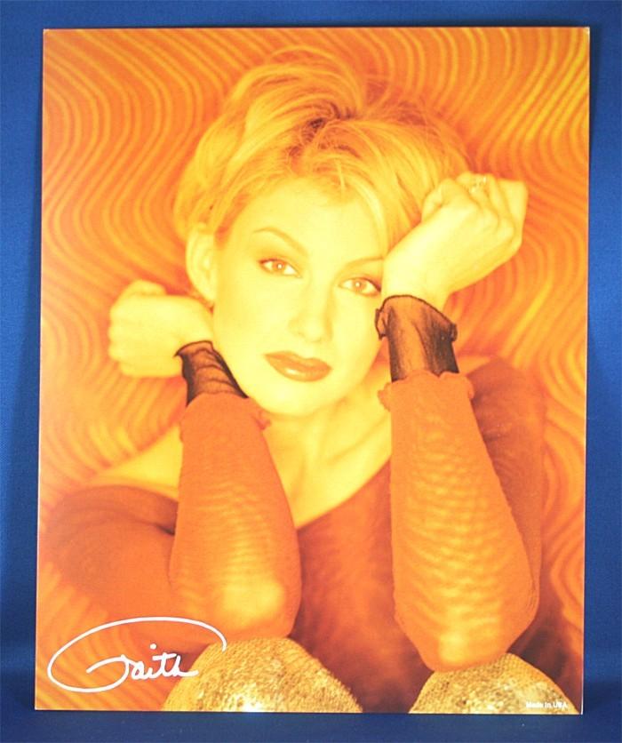 Faith Hill - 8x10 color photograph in orange