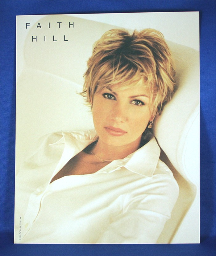 Faith Hill - 8x10 color photograph in white