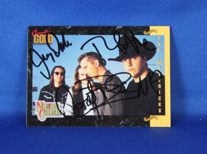 Mavericks - autographed 1993 Country Gold trading card #1