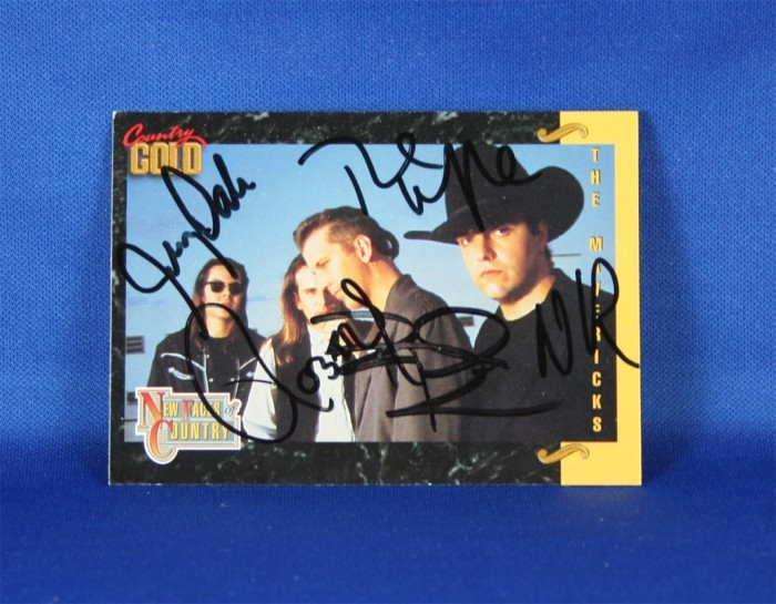 Mavericks - autographed 1993 Country Gold trading card #4