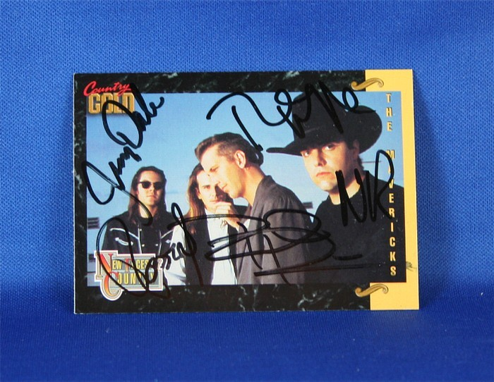 Mavericks - autographed 1993 Country Gold trading card #5