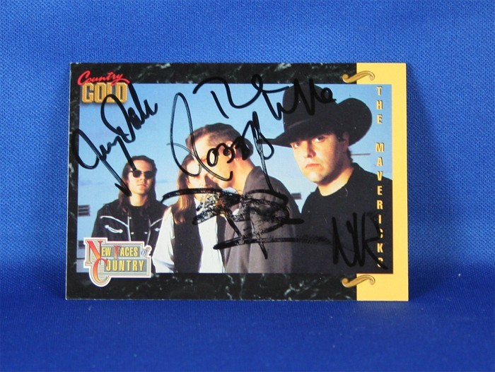 Mavericks - autographed 1993 Country Gold trading card #7