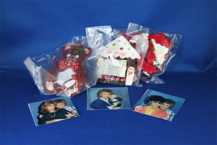 Barbara Mandrell - set of three Christmas Ornaments